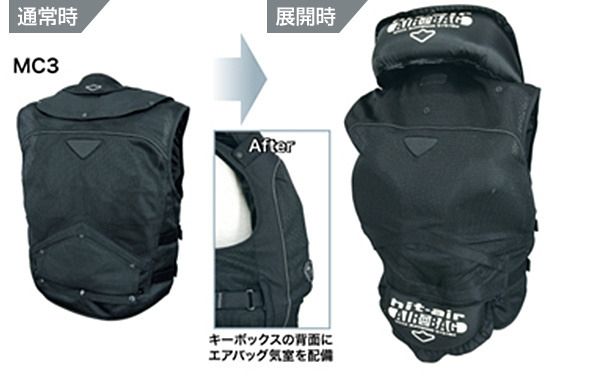 首気室露出型(キーボックス背面気室) キーボックスB型ジャケット・ベスト