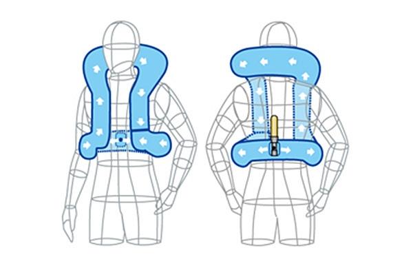 首気室重点型  キーボックスB型(背中に配置)