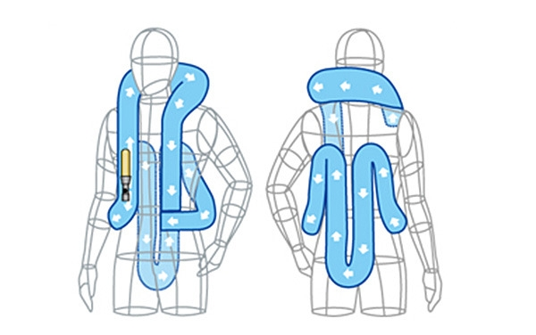 首気室露出型(キーボックス背面気室+尻気室収納型) キーボックスB型ジャケット・ベスト
