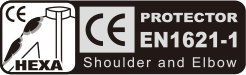 CE (EN 1621-1 HEXA) shoulder and elbow padding