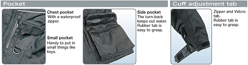 Pocket / Cuff adjustment tab